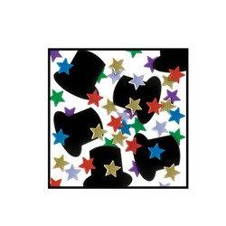Fanci-Fetti Top Hats & Mini Stars (multi-color) Party Accessory  (1 count) (1 Oz/Pkg)