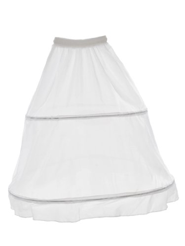 Topwedding Women's Bridal 2-Hoops Crinoline White Petticoat Skirt Slip