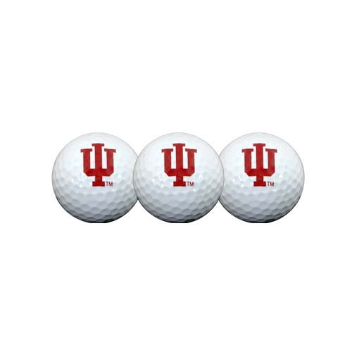 Team Effort Indiana Hoosiers Golf Ball 3 Pack golf ball sample display case