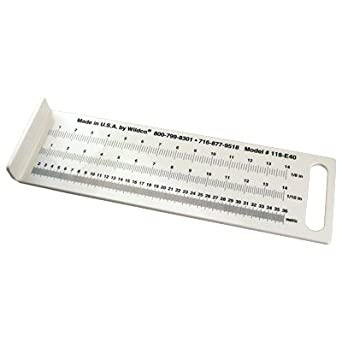 Mini fish measuring board white pvc 14 inches 36cm for Fish measuring board