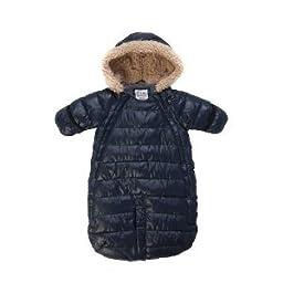 7AM Enfant Doudoune One Piece Infant Snowsuit Bunting, Midnight Blue, Medium