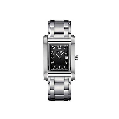Fendi Loop Large Square Black Dial and Bracelet Quartz Watch - F775110