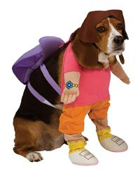 [Rubies Dora The Explorer Pet Costume, Medium] (Homemade Character Costumes Ideas)