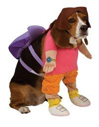 [Rubies Dora The Explorer Pet Costume, Medium] (Homemade Halloween Pet Costumes Ideas)
