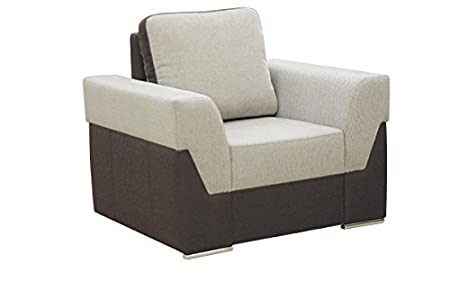 FOKUS comfortable fabric grey and black armchair with pillow living room office furniture armchairs
