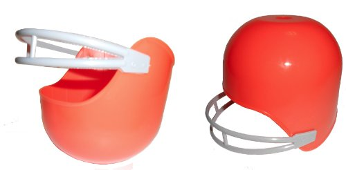 Ice Bowl Football 12 Orange Football Helmet Ice