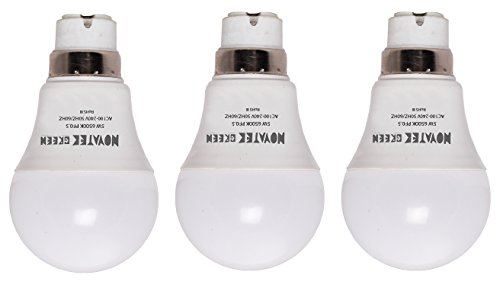 NOVATEK-GREEN-5W-LED-Bulbs-(Cool-White,-Pack-of-3)
