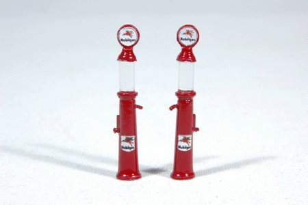 MOBIL GRAVITY GAS PUMPS - JL INNOVATIVE DESIGN HO SCALE MODEL TRAIN ACCESSORIES 935