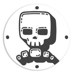 Hip In a Hurry 3D Decor Clock Kits 11 Inch -Cool Skull