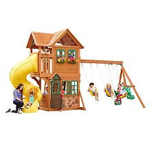 Goldenridge Deluxe Wood Gym Set