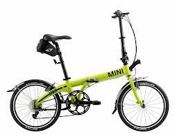 MINI Cooper Folding Bike Lime Color