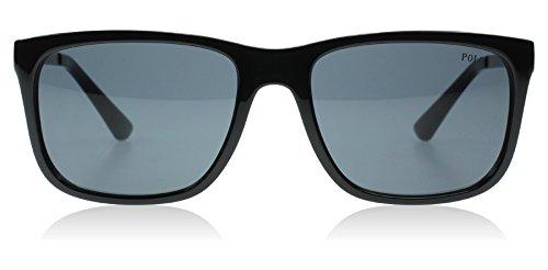 Polo Ph4088 Sunglass-500187 Shiny Black (Gray Blue Lens)-55Mm