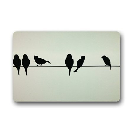 TSlook Fashions Doormat Birds On A Wire Indoor/Outdoor/Front Welcome Door Mat(23.6
