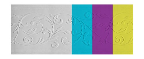 York Wallcoverings Patent Décor PT1853B Diamond Leaves Paintable Border, White