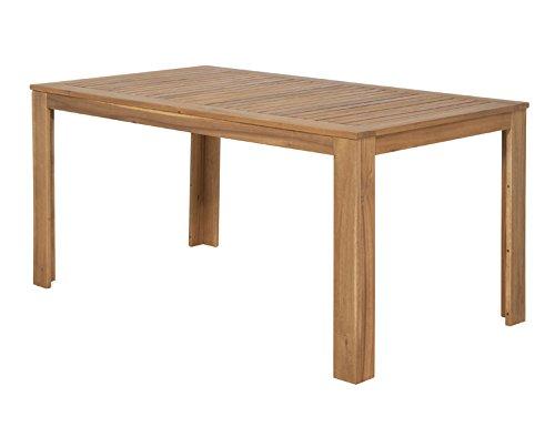 Siena Garden 120527 Tisch Paleros, 160x90cm Akazienholz FSC® 100% Beschläge aus galvanisiertem Stahl