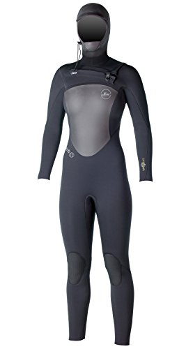 xcel-womens-5-4-x2-tdc-infiniti-hooded-fullsuit-all-black-with-silver-logos-10-short-by-xcel
