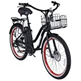 Aluminum Frame Beach Cruiser Electric Bicycle, Lithium Battery Powered