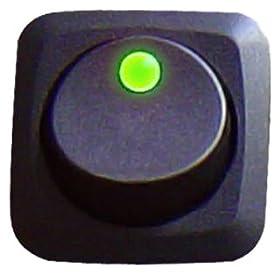 Keep It Clean SW16G Green 25 Amp/12V Square Framed LED Rocker Switch