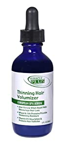 Miracle Plus Thinning Hair Volumizer European Spa Serum for Men and Women - With Aloe Vera and Witch Hazel. 2 FL oz