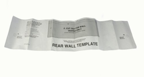 Lg Electronics 4922W5A060B Microwave Oven Rear Wall Template Card front-12084