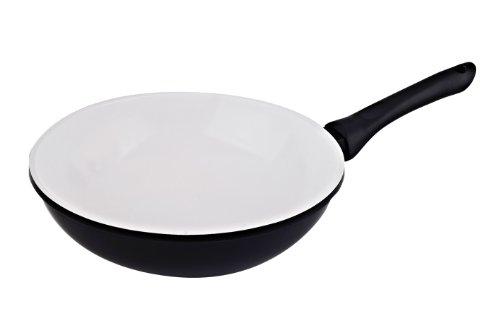 Vinaroz Die Cast Aluminum wok with Ceramic Coating 30-Cm, Black