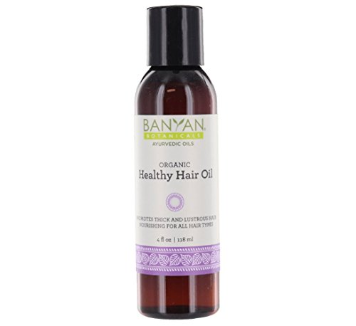 Banyan Botanicals Healthy Hair Oil - Certified Organic, 4 oz - Promotes Thick and Lusterous Hair, Nourishing for All Hair Types
