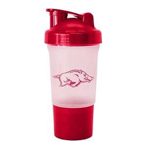Buy NCAA Arkansas Razorbacks 16-Ounce Protein Shake Bottle by Boelter