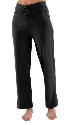 Yoga Lounge Pants Exercise Clothes Classic Cute Active Leisure Pants Activewear For Women Wb1201-Blk-Xs front-345195