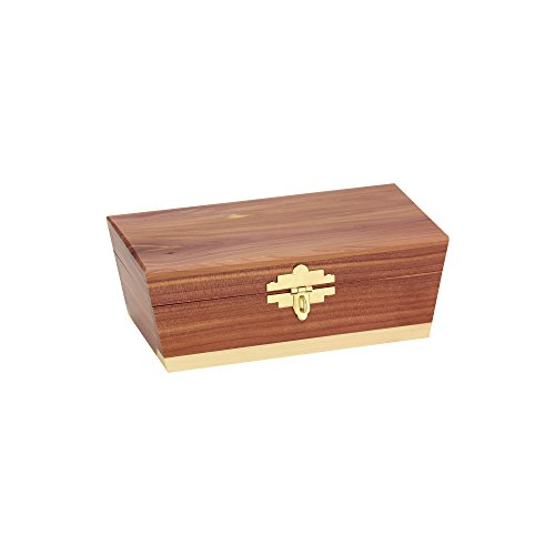 Household Essentials Cedar Treasure Chest Keepsake Decorative Box