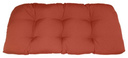 American Mills 45340.617 Indoor/Outdoor Sunbrella Settee Cushion, Solid Pottery