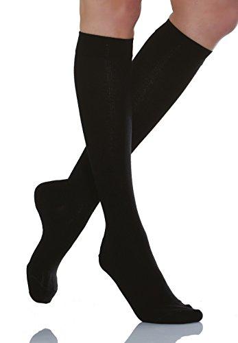 relaxsan-920-new-negro-tg4-calcetines-hasta-la-rodilla-de-algodon-unisex-contenitivo-con-compresion-