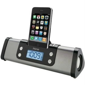 Ihome Ip16G Iphone(R)/Ipod(R) Portable Alarm Clock Stereo Speaker System