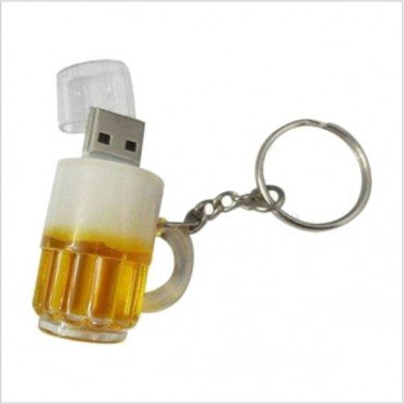 Smiledrive 8GB FANCY DESIGNER BEER MUG KEYCHAIN USB PENDRIVE