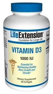 Life Extension Vitamin D3 1000 Iu Softgels, 90 Count