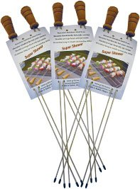 Original Super Skewer Barbecue Skewers - 2 packs of 2 Original Super Skewers (plus one pack FREE) - FREE STANDARD SHIPPING IN USA