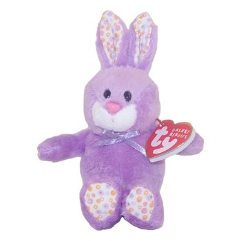 Ty Basket Beanies Bloom - Purple Bunny - 1