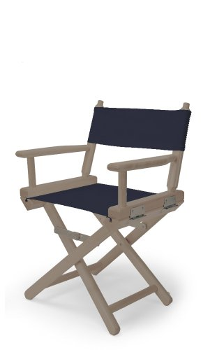 Telescope Casual Child'S Director Chair, Rustic Grey With Navy Canvas Fabric