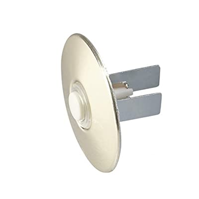 NuTone PB41LBGL Wired Lighted Door Chime Push Button, Round, Polished Brass Stucco Finish