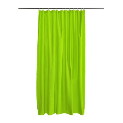 Shower Curtain Bright Green And White Standard Size Shower Curtain ...