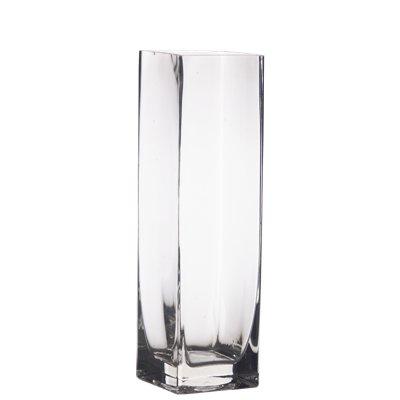 Hurricane Vase Bulk 18 Pieces Clear Glass 10 Square Vases 3x3x10