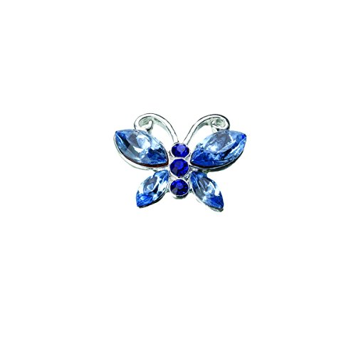 Lillian Rose Something Butterfly Pin, 0.625-Inch, Blue