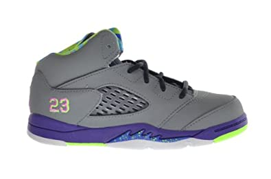 Buy Jordan 5 Retro (TD) Baby Toddlers Basketball Shoes Cool Grey Club Pink-Purple-Gym Royal 440890-090 by Jordan