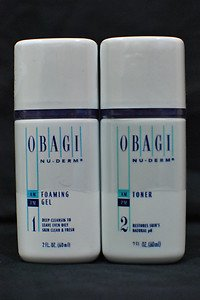 Obagi Foaming Gel Cleanser and Toner Travel Size 2oz.