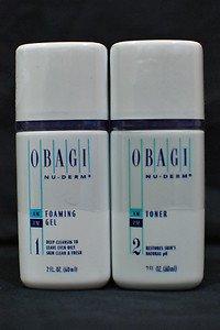 Obagi Foaming Gel Cleanser and Toner Travel Size 2oz.