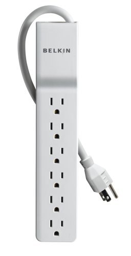 Belkin 6-Outlet Home/Office Surge Protector with 4' Cord