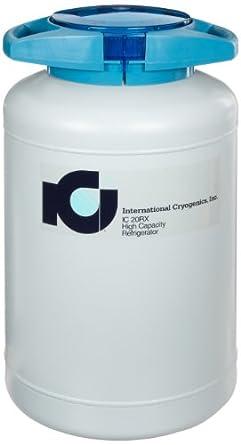 International Cryogenics LN2 Liquid Nitrogen Refrigerator, 20L, 6 Canisters