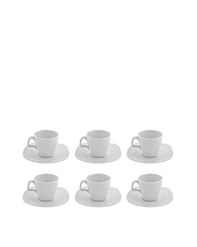 10 Strawberry Street Set of 6 Aurora Square Demi Cups & Saucers