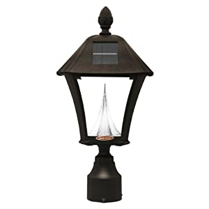solar outdoor warm white led light fixture 3 inch fitter for post. Black Bedroom Furniture Sets. Home Design Ideas