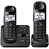 Panasonic KX-TGL432B Expandable Cordless Phone w/ Answering Machine- 2 Handsets (2016 Model)