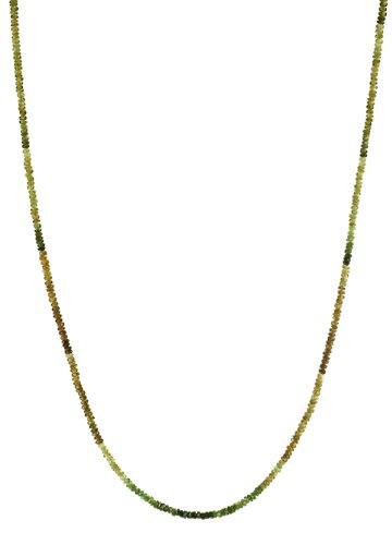 Vesonite Garnet Rondelle with 14K Gold Spring Ring Clasp Necklace, 18